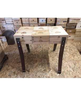 Tavolo in Casse di Legno Paolo Scavino apribile