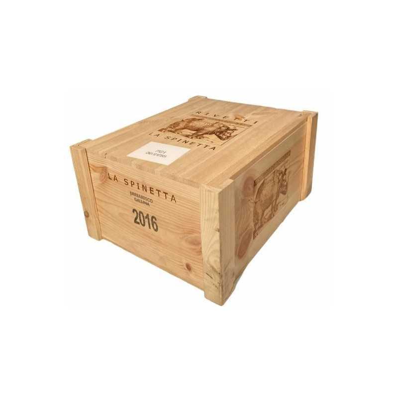 Cassa in Legno La Spinetta Barbaresco Gallina da 6 Bottiglie *250