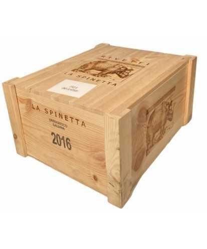 Cassa in Legno La Spinetta Barbaresco Gallina da 6 Bottiglie *399