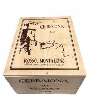 Cassa in Legno Cerbaiona Rosso di Montalcino 2015 6 bottiglie *287
