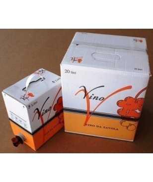 Bussi Bag in Box Vino Bianco da Uve Chardonnay da 5 Litri