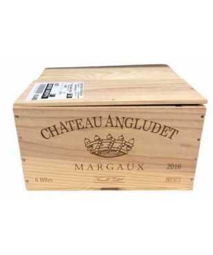 Cassa in Legno Chateau Angludet Marcaux 2016 da 6 Bottiglie *404