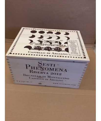 Cassa in Legno Sesti Phenomena Castello di Argiano 2012 da 6 bottiglie *74
